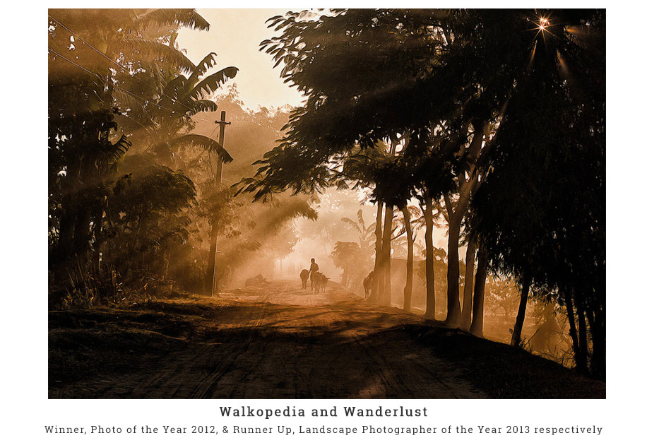 Winner of Walkopedia and runner up wanderlust landscape photographer of the year